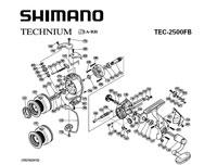 Схема катушки Shimano