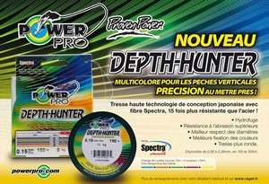 В продаже плетеный шнур Power Pro Depth Hunter
